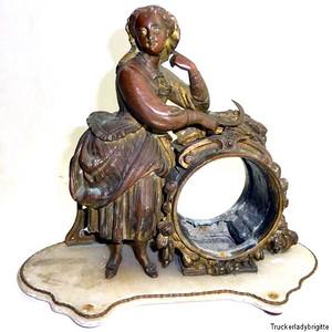 1890年法国鎏金铜像思春少女