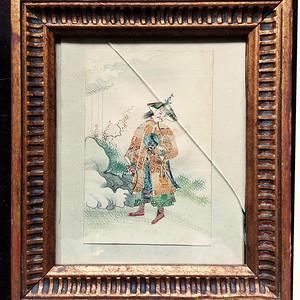 精品 十九世纪官员钱币画