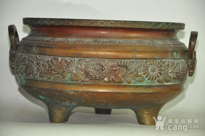 手工攒刻铜香炉图4
