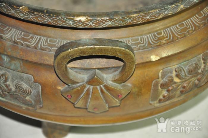 手工攒刻铜香炉图5