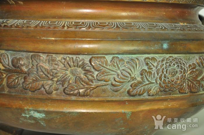 手工攒刻铜香炉图6