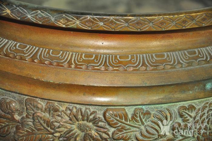 手工攒刻铜香炉图7