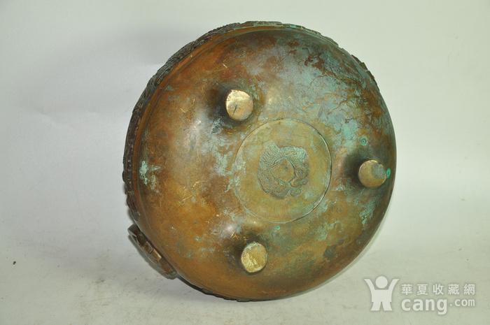 手工攒刻铜香炉图9