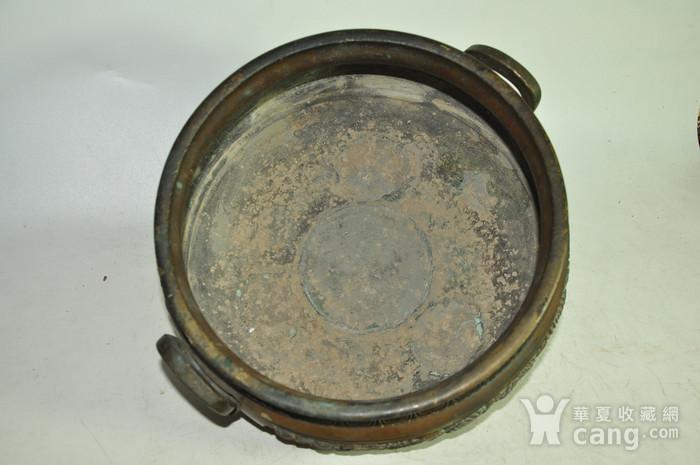手工攒刻铜香炉图8