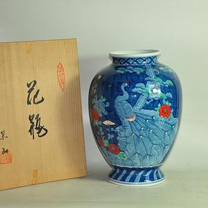 日本有田烧粉彩花瓶