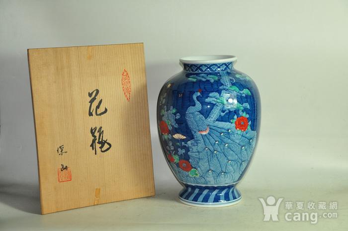 日本有田烧粉彩花瓶图1