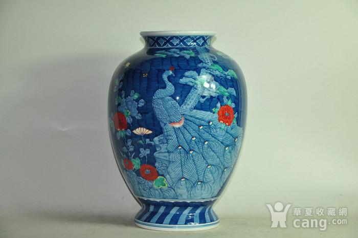 日本有田烧粉彩花瓶图2