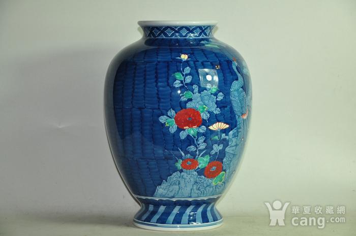 日本有田烧粉彩花瓶图4