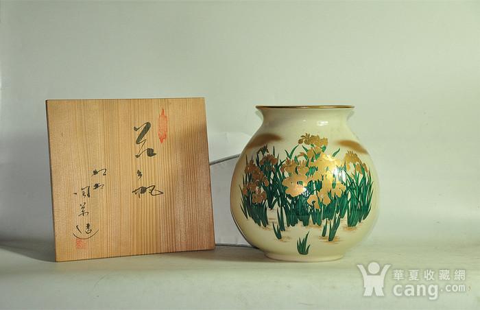 日本九谷烧花瓶图1