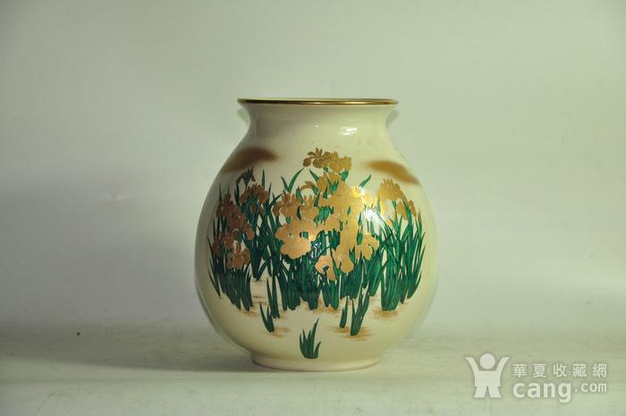 日本九谷烧花瓶图2