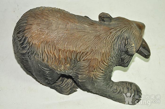 日本50年左右木雕棕熊图5