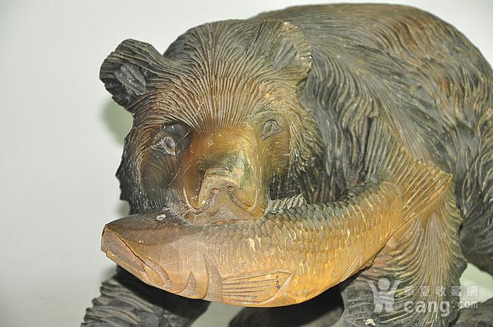 日本50年左右木雕棕熊图8