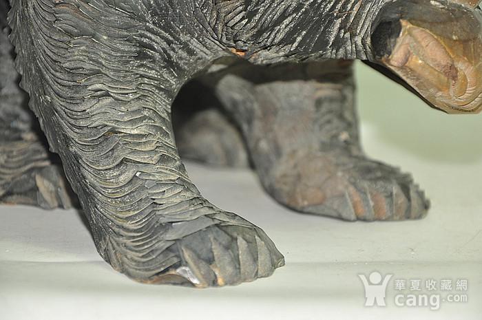 日本50年左右木雕棕熊图10