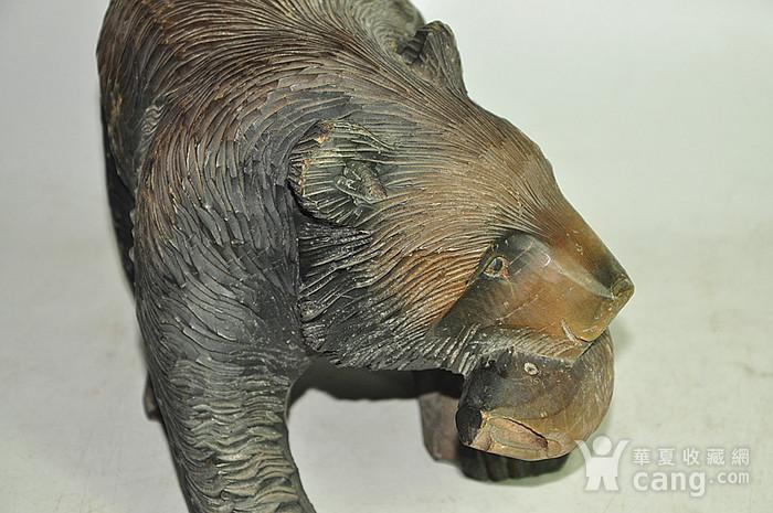 日本50年左右木雕棕熊图7