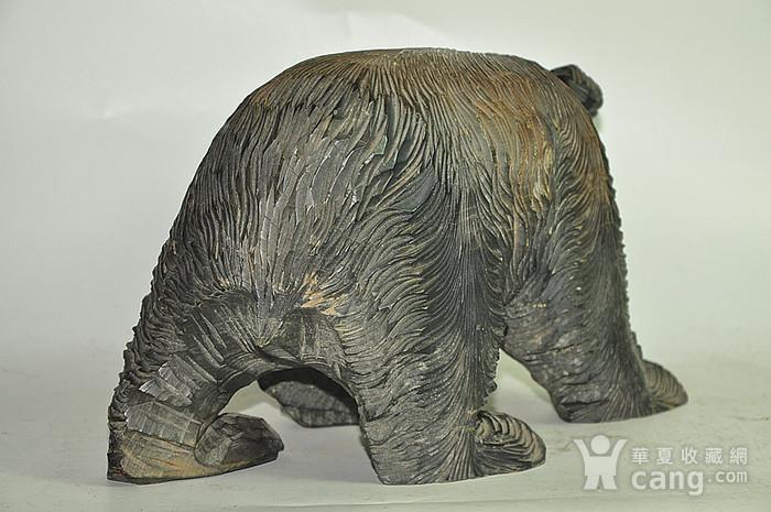 日本50年左右木雕棕熊图3