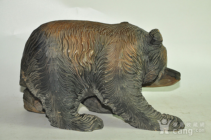 日本50年左右木雕棕熊图4