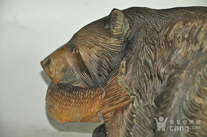 日本50年左右木雕棕熊图9