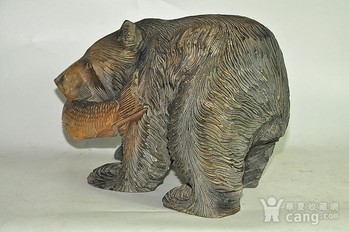 日本50年左右木雕棕熊图2