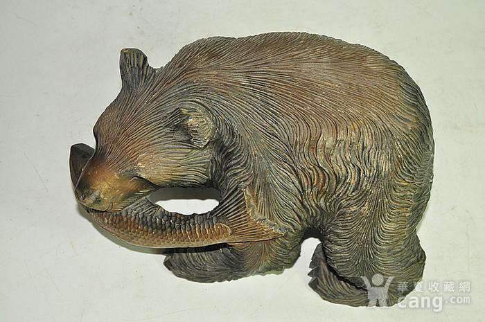 日本50年左右木雕棕熊图6