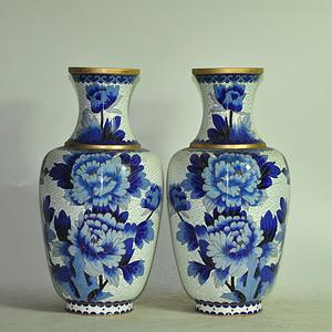 景泰蓝对瓶