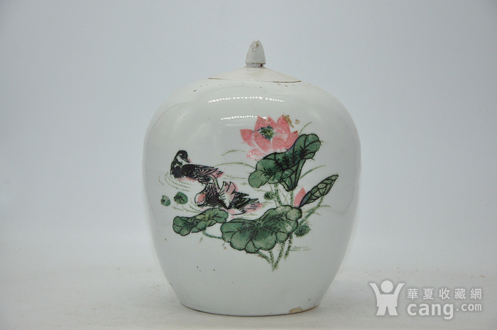 创汇期醴陵釉下彩瓷罐图1