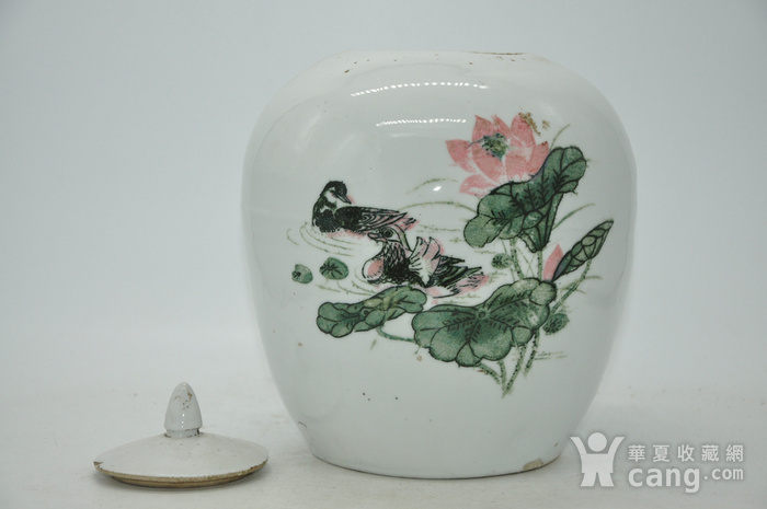 创汇期醴陵釉下彩瓷罐图7