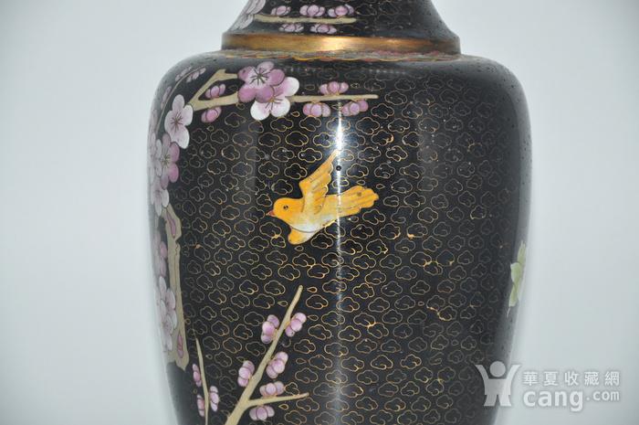 创汇期景泰蓝花瓶图4