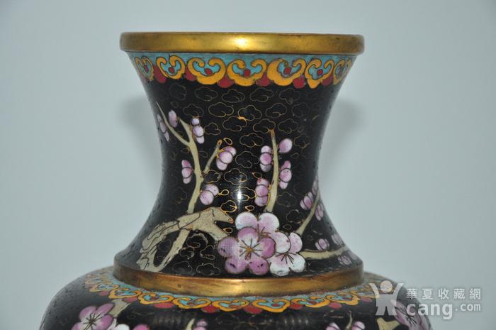 创汇期景泰蓝花瓶图3