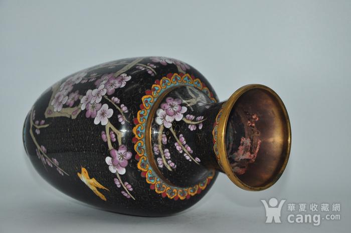 创汇期景泰蓝花瓶图8