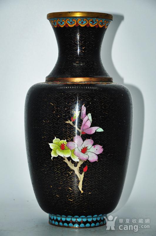 创汇期景泰蓝花瓶图2
