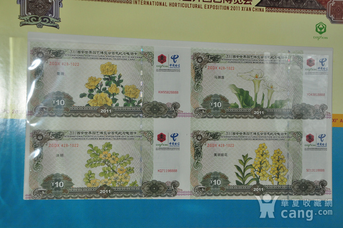 2011年西安世园会纸钞电话卡收藏品图6