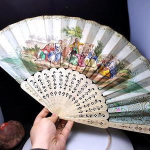 收藏品 1872年法国贵妇扇