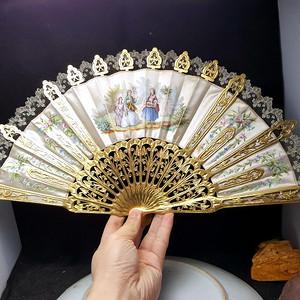 收藏品 1835年法国鎏金贵妇扇