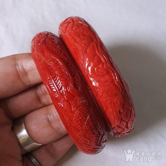 精品 55.58克20mm阿卡珊瑚雕花手镯图9
