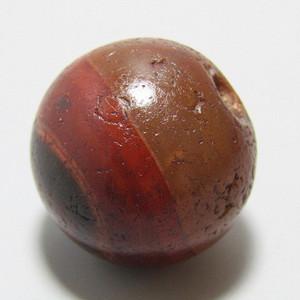 玛瑙 珠 包浆熟润 风化清晰
