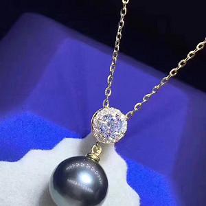 天然黑珍珠吊坠