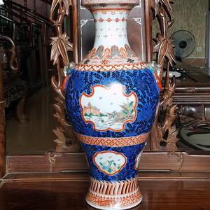 欧洲回流35厘米民国粉彩花瓶
