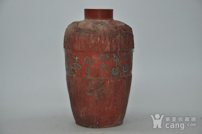 硬陶手工雕刻花瓶图2