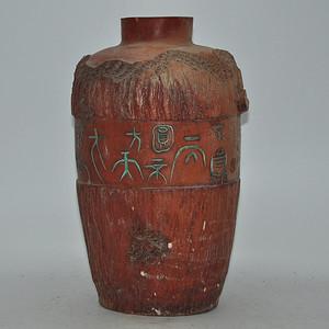 硬陶手工雕刻花瓶
