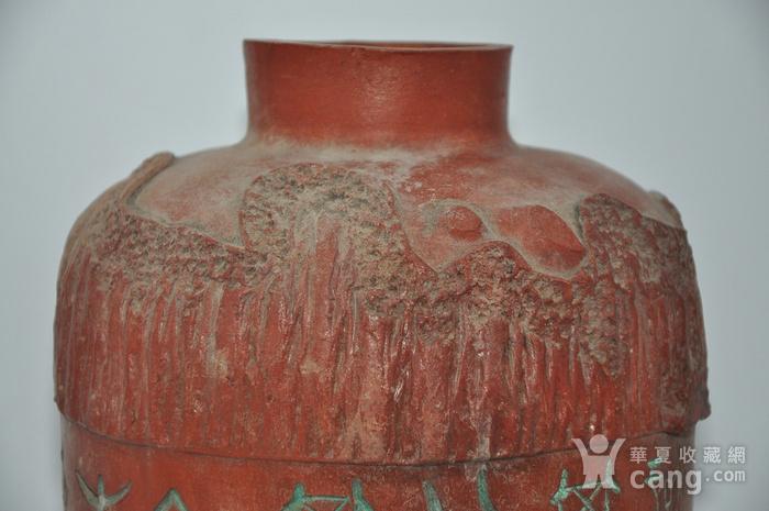 硬陶手工雕刻花瓶图4