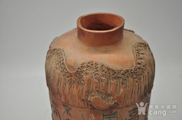 硬陶手工雕刻花瓶图8