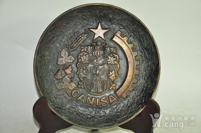 国外铸铜挂盘图1