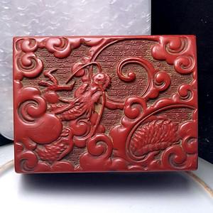 欧洲回流民国文房木胎漆盒