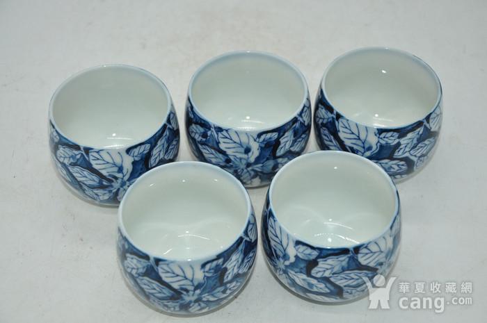 日本青花瓷茶碗五件套图2