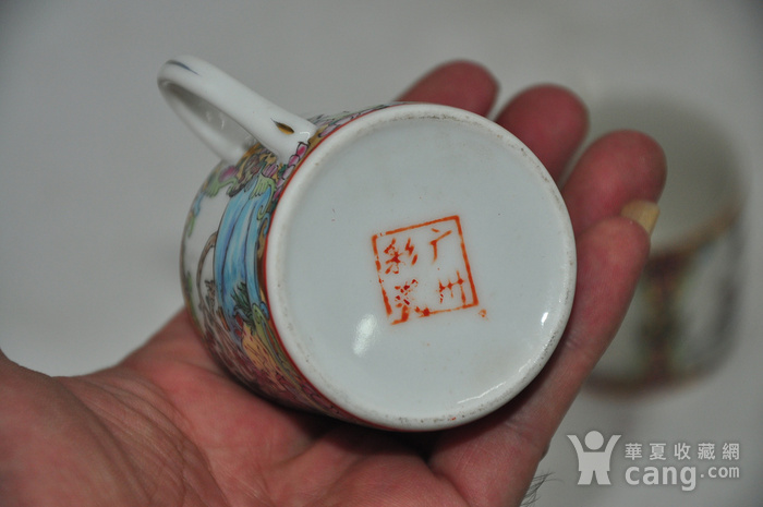 广州彩瓷茶具两套图10