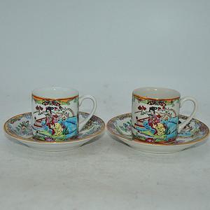 广州彩瓷茶具两套