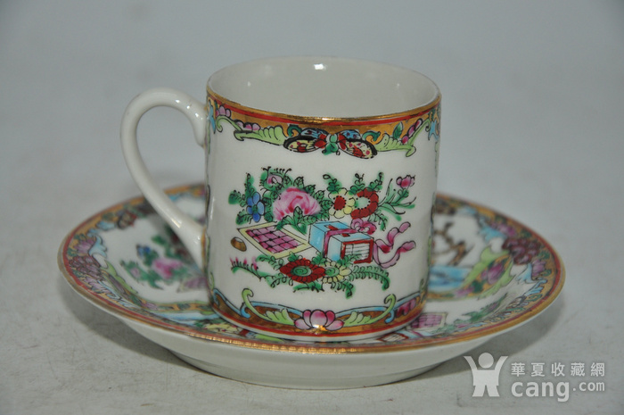 广州彩瓷茶具两套图5