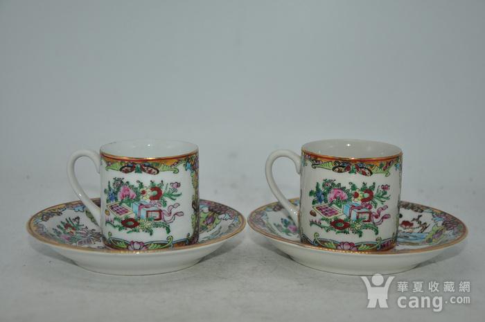 广州彩瓷茶具两套图2
