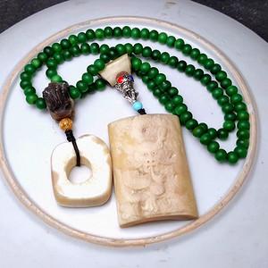 165克保真天然珍稀材质念珠串