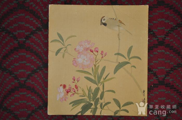 日本粉彩画四幅图8